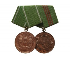 Наградная колодка с медалями ГДР