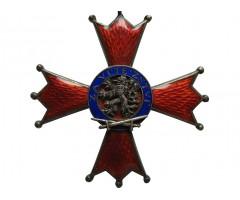 """Крест ордена Белого Льва """"За Победу"""" III степени + наградная грамота"""