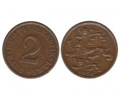 Эстония 2 цента 1934 года