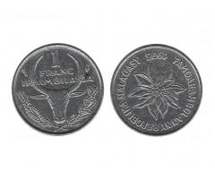 Мадагаскар 1 франк 1975 года