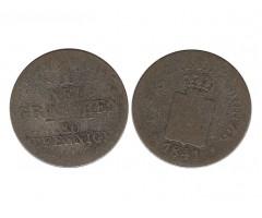 Саксония 1 новый грош 1841 года