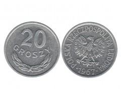 Польша 20 грошей 1967 года