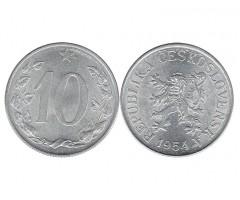 Чехословакия 10 геллеров 1954 года