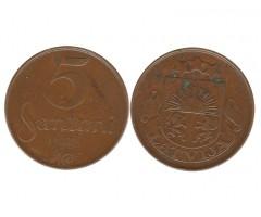 Латвия 5 сантим 1922 года