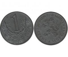 Богемия и Моравия 1 крона 1942 года