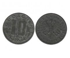 Австрия 10 грошей 1948 года