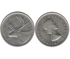 Канада 25 центов 1964 года