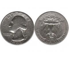 США 1/4 доллара 1943 года