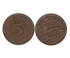 Эстония 5 сентов 1931 года