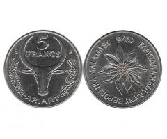 Мадагаскар 5 франков 1976 года