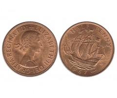 Великобритания 1/2 пенни 1967 года