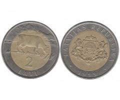 Латвия 2 лата 1999 года