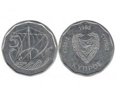 Кипр 5 мил 1982 года