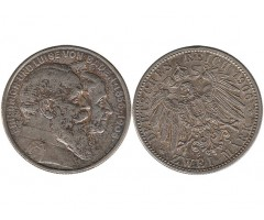 Баден 2 марки 1906 года