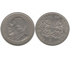 Кения 1 шиллинг 1968 года