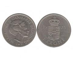 Дания 1 крона 1975 года