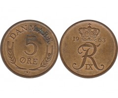 Дания 5 эре 1963 года