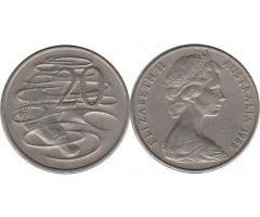 Австралия 20 центов 1968 года