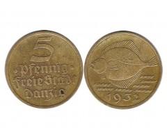 Данциг 5 пфеннигов 1932 года