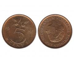 Нидерланды 5 центов 1980 года