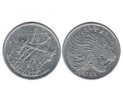 Эфиопия 1 цент 1977 года