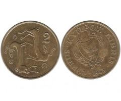 Кипр 2 цента 1983 года