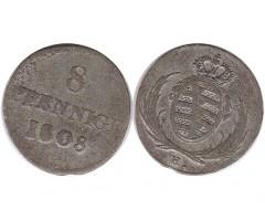Саксония-Альбертина 8 пфеннигов 1808 года