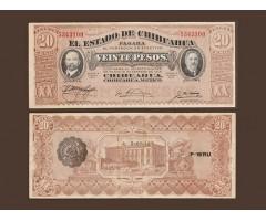 Мексика 20 песо 1914 года