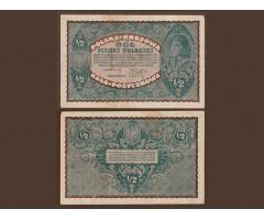 Польша 1/2 марки 1920 года