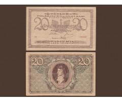 Польша 20 марок 1919 года