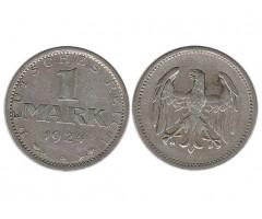 Германия 1 марка 1924 года А