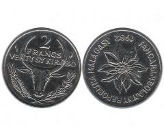 Мадагаскар 2 франка 1982 года