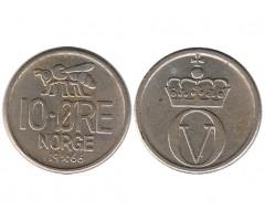 Норвегия 10 эре 1966 года