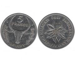 Мадагаскар 5 франков 1980 года