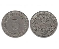 Германия 5 пфеннигов 1897 года А