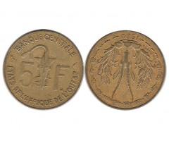 Западная Африка 5 франков 1980 года