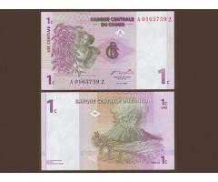 Конго 1 сантим 1997 года