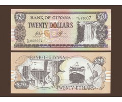 Гайана 20 долларов 1996 года