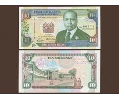 Кения 10 шиллингов 1990 года