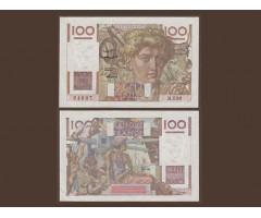 Франция 100 франков 1953 года