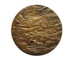 Настольная медаль 50 лет Челюскинской эпопее