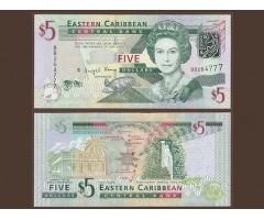 Восточно-Карибские острова 5 долларов 2008 года