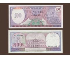 Суринам 100 гульденов 1985 года