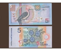 Суринам 5 гульденов 2000 года