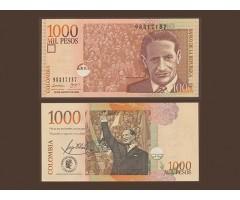 Колумбия 1000 песо 2008 года