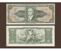 Бразилия 1 сентаво 1966 на 10 крузеро 1962 года