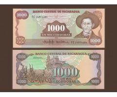 Никарагуа 1000 кордоба 1985 года