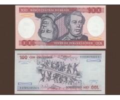 Бразилия 100 крузейро 1984 года