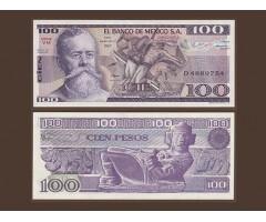 Мексика 100 песо 1982 года