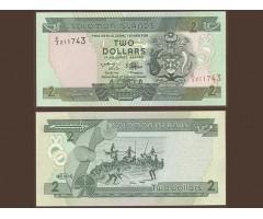 Соломоновы о-ва 2 доллара 1997 года